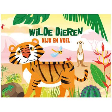 Wilde dieren kijk en voel boek -