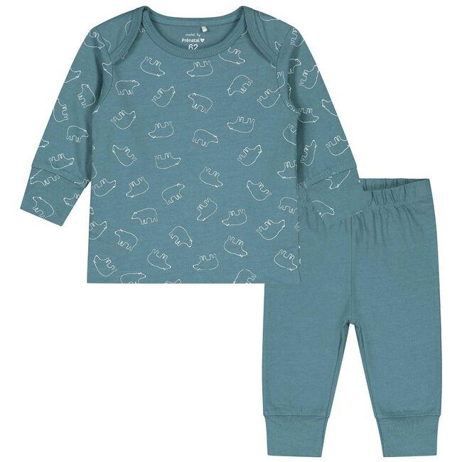 Prénatal baby pyjama - Deep Sky Blue