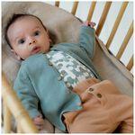 Prenatal newborn unisex broekje melange - Lightbrown