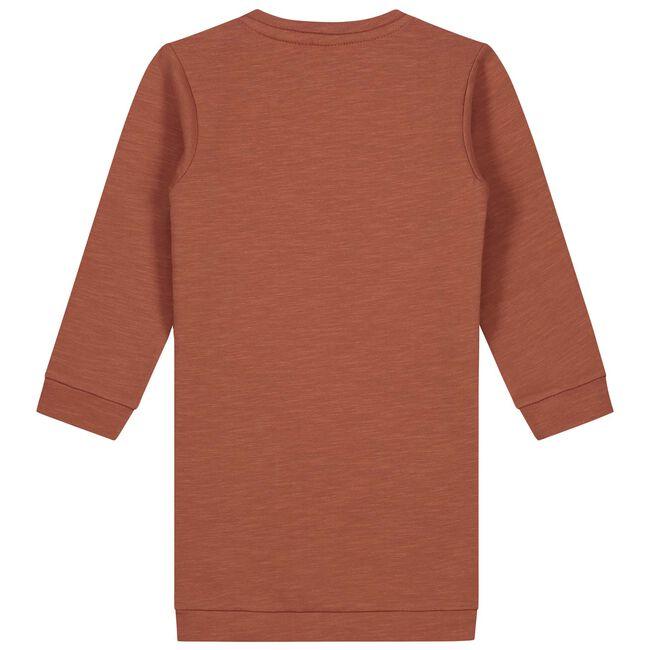 Prénatal baby meisjes jurk - Deep Orange