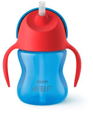 Philips Avent rietjesbeker 200ml 9+ maanden blauw -