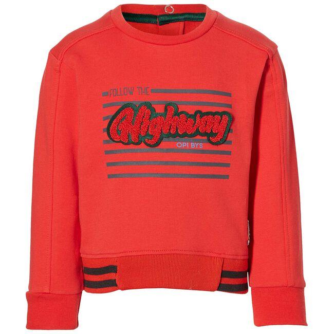 Quapi peuter jongens sweater - Red