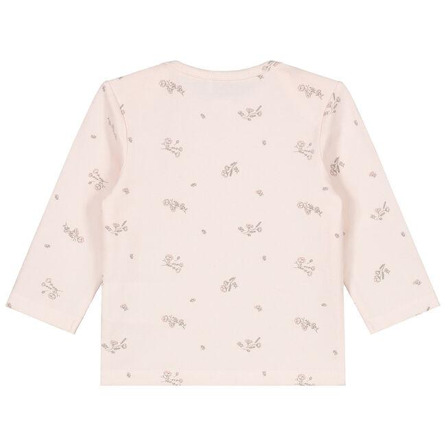 Prénatal newborn meisjes shirt met bloemenprint - Light Coral Pink