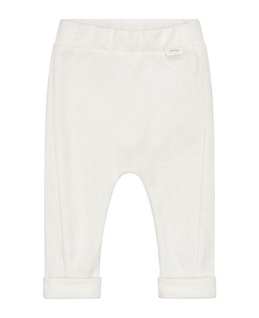 Prénatal newborn unisex badstof broekje Pure - Off-White