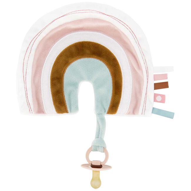 Prénatal knuffeldoekje regenboog - Medium Pink