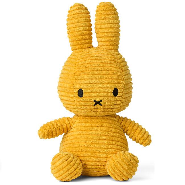 Nijntje knuffel corduroy 23 cm - Yellow
