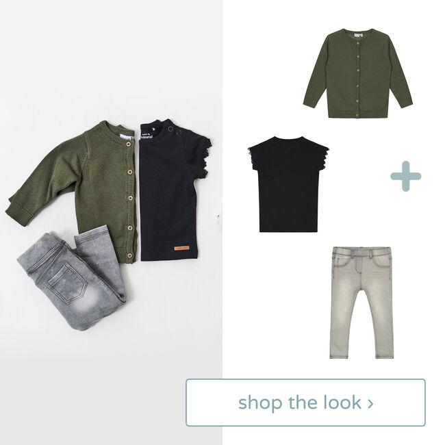Shop the look - vest, shirt en jeans -