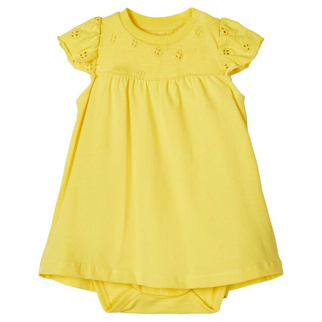 Name it baby meisjes jurk - Yellow