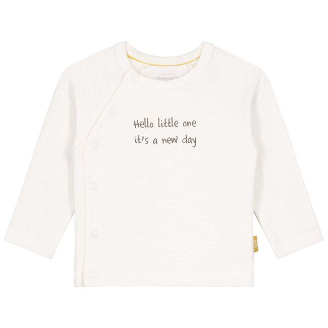 Prenatal newborn unisex overslag shirt - Off-White