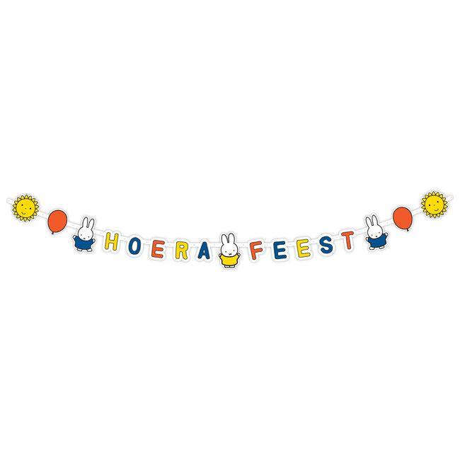 Nijntje letterslinger Hoera feest -