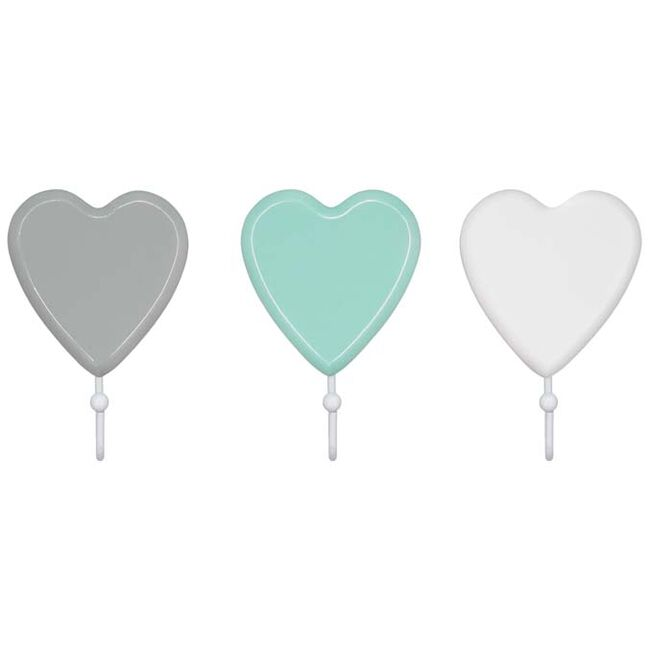 Prénatal kapstokhaakje hart - White