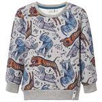 Name it peuter jongens sweater - Grey Melee Light