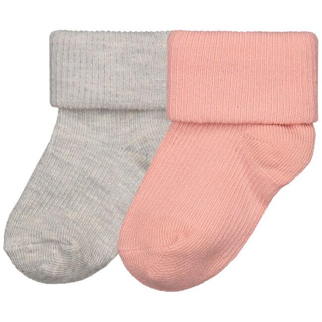Prenatal newborn meisjes sokjes - Mid Pink