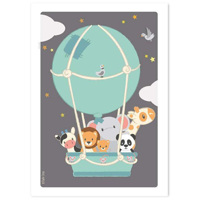Studio Circus poster luchtballon - Mintgreen