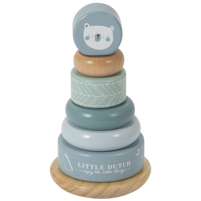 Little Dutch tuimel ringpiramide blauw - Blue