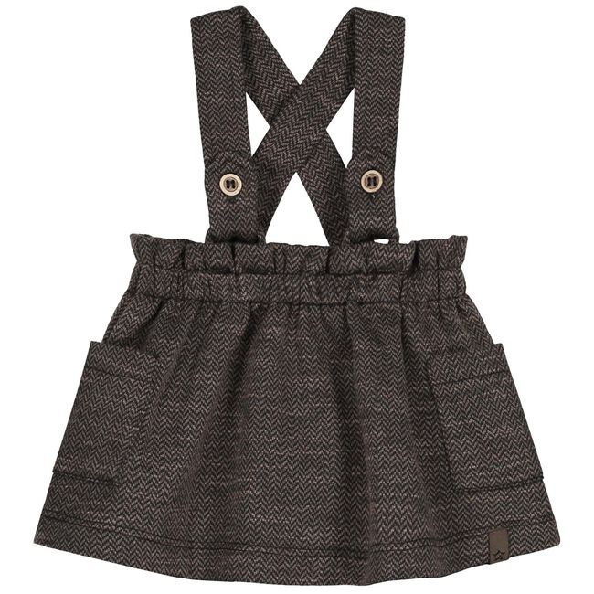 Sweet Petit baby meisjes rok Sara - Darkbrown