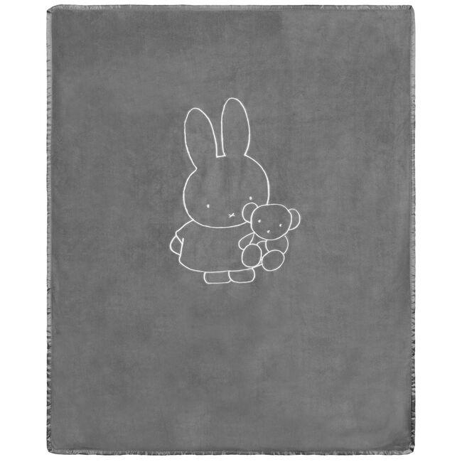 Nijntje wieg deken - Light Stone Grey