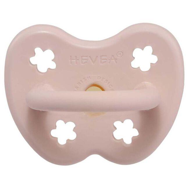Hevea fopspeen Classic 0-3 maanden - orthodontisch 100% natuurlijk rubber - Powder Pink