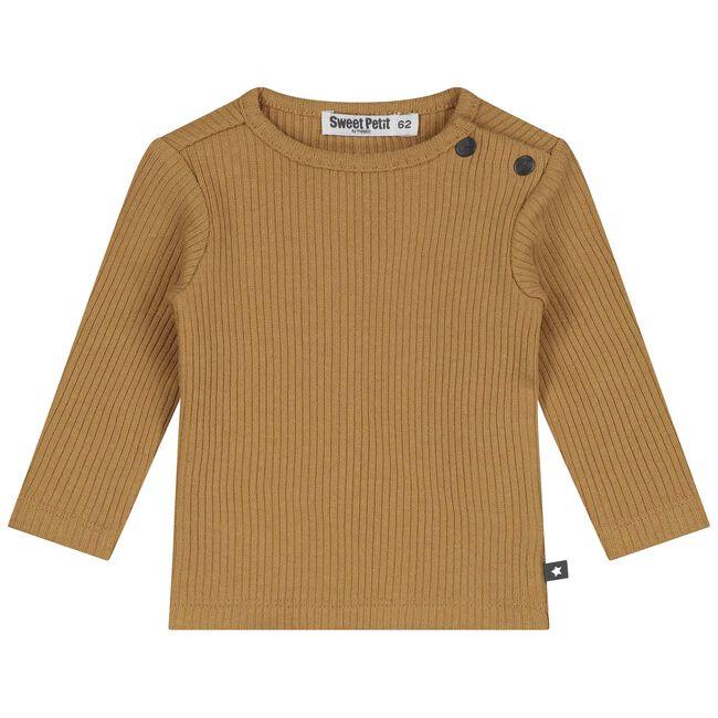 Sweet Petit baby jongens t-shirt Tycho - Yellow Brown