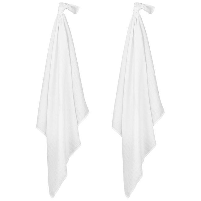 Prénatal hydrofiele doek Wit 115x115 - White