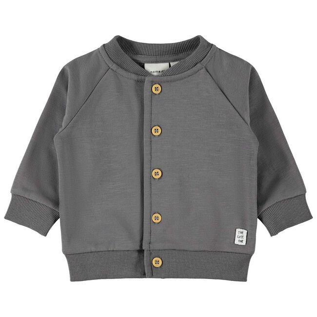 Name it jongens vest - Dark Graphite Grey