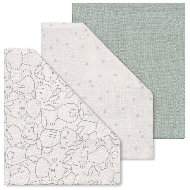 Prénatal hydrofiel washand 3-pack - Light Mint Green