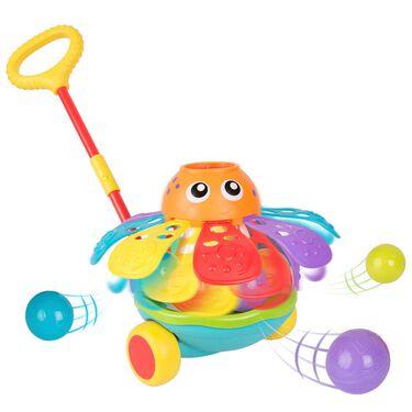 Playgro push alang ball popping octopus -