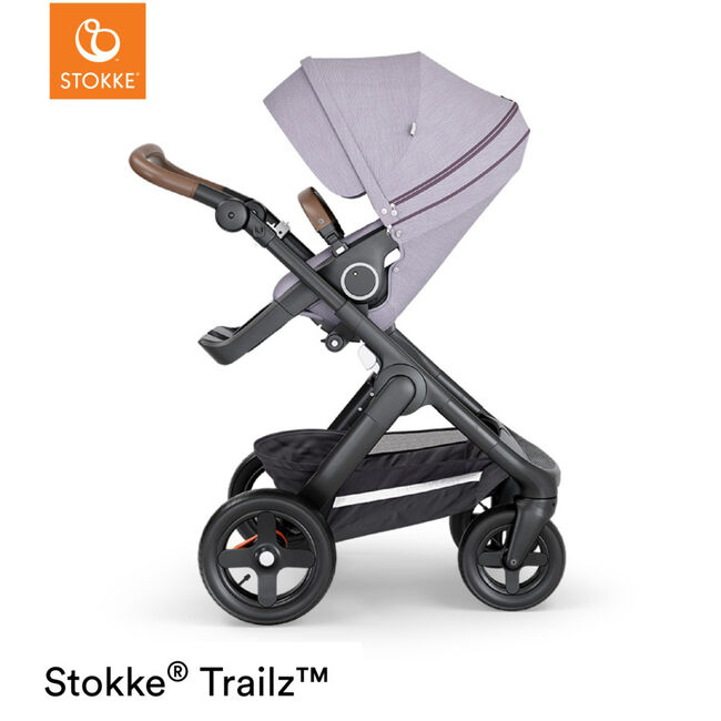 Stokke Trailz Brushed - Brushed Lilac (Brown Leather)