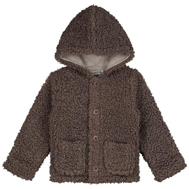 Sweet Petit baby unisex jas - Dark Taupe Brown