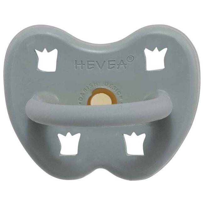 Hevea fopspeen Classic 3-36 maanden - orthodontisch 100% natuurlijk rubber - Lightgrey