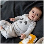 Prénatal baby unisex pyjama - Grey Melee Light