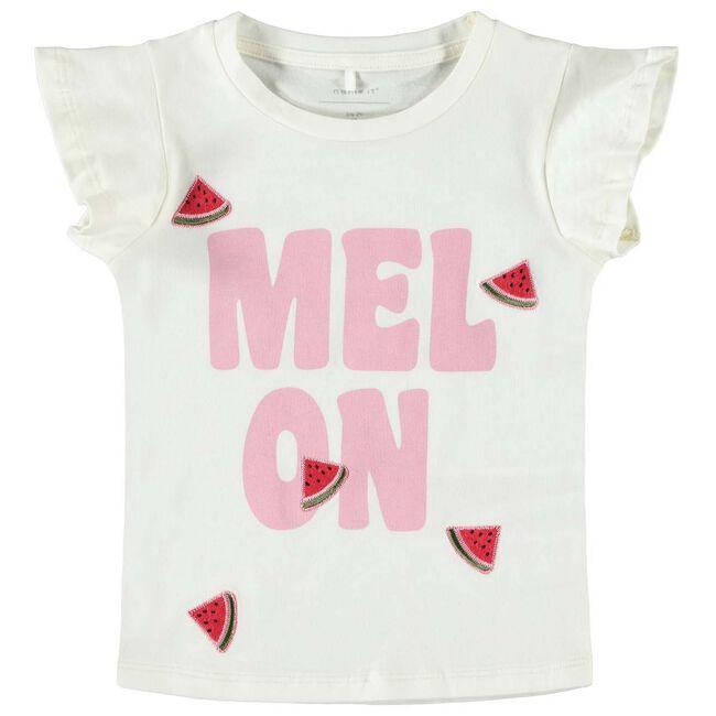 Name it peuter meisjes T-shirt - White