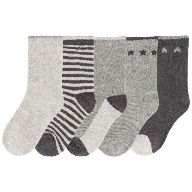 Prénatal jongens sokken 5-pack - Light Ecru Melange