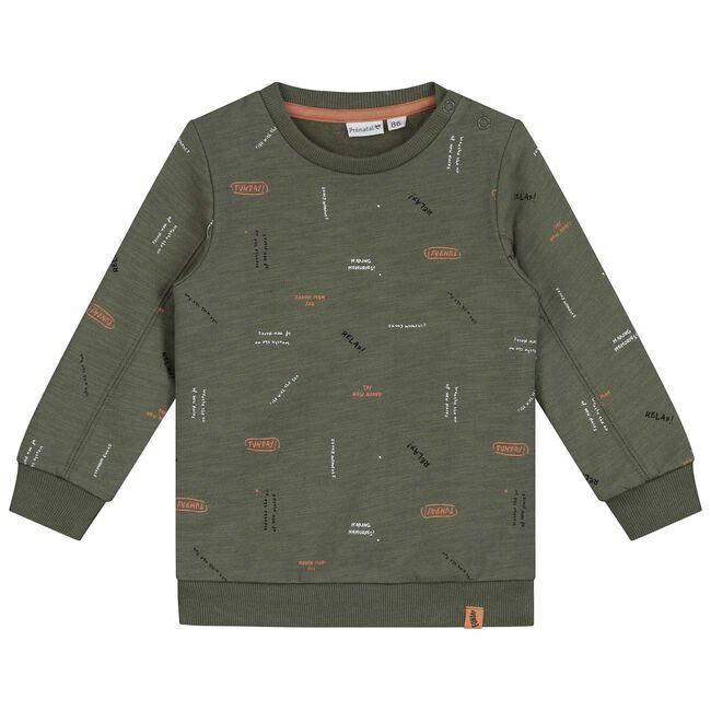 Prénatal baby jongens sweater - Green Shade