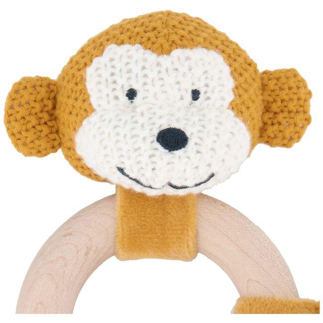Prénatal rammelaar aap little knits - Light Yellow Brown
