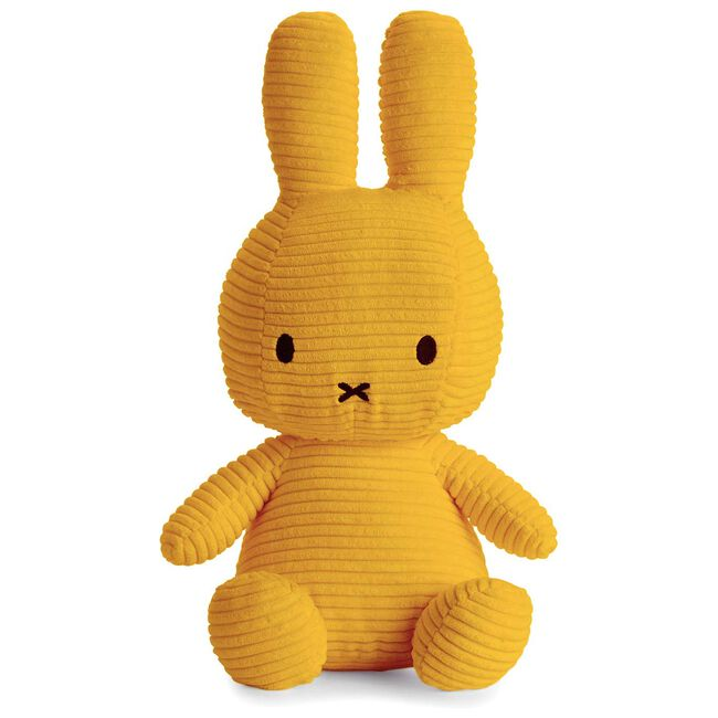 Nijntje knuffel corduroy 33cm - Yellow