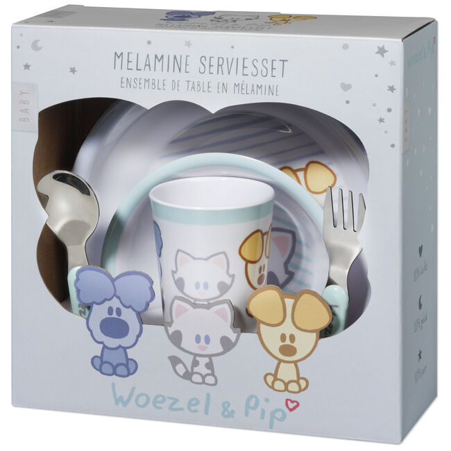 Woezel & Pip baby eetset 5-delig - Light Blue