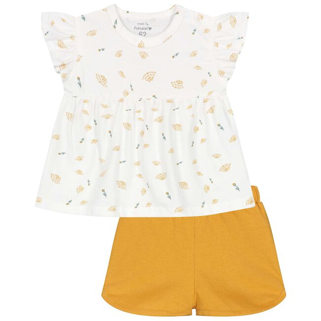 Prenatal baby meisjes pyjama - White