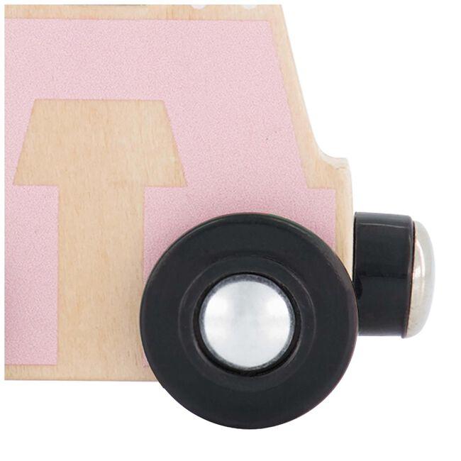 Prenatal houten namentrein letter A - Pink