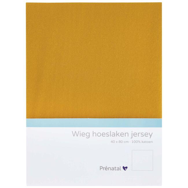 Prénatal wieg hoeslaken jersey - Darkyellow