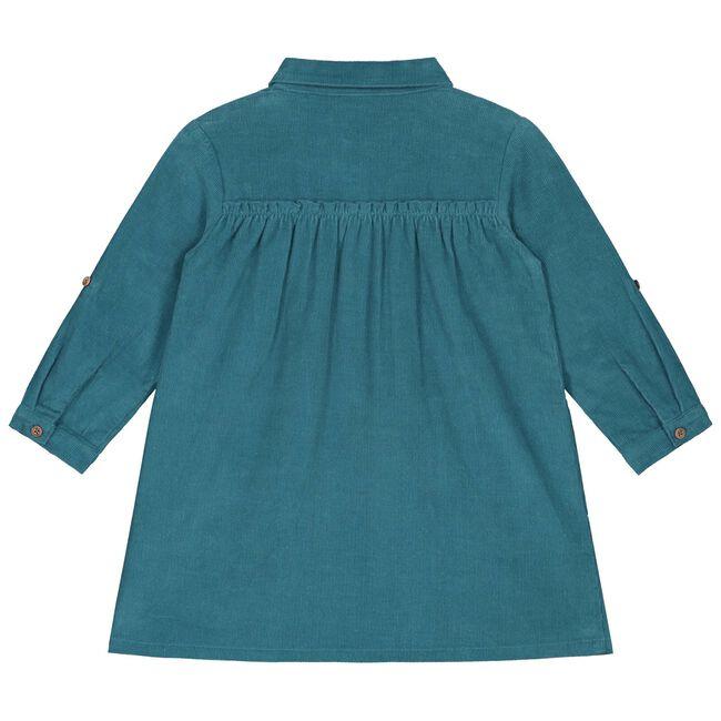 Prénatal peuter meisjes jurk - Dark Turquoise Blue