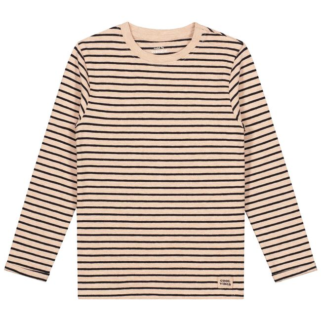 Prénatal baby jongens t-shirt - Light Brown Melange