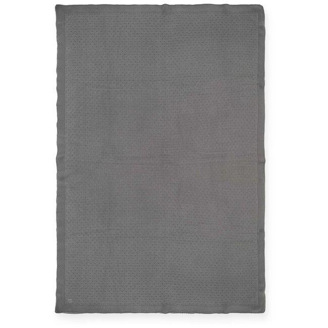Jollein ledikant deken bliss knit - Storm Grey