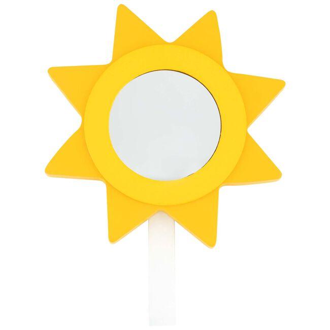 Prénatal kapstokhaakje zon met spiegel - Midyellow
