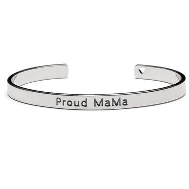 Proud Mama Bangle Armband Zilver - Silver