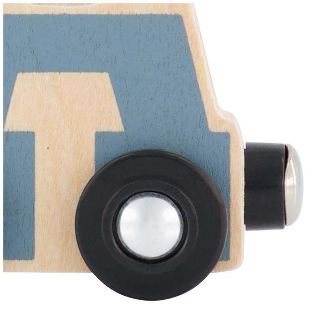 Prénatal houten namentrein letter A - Blue