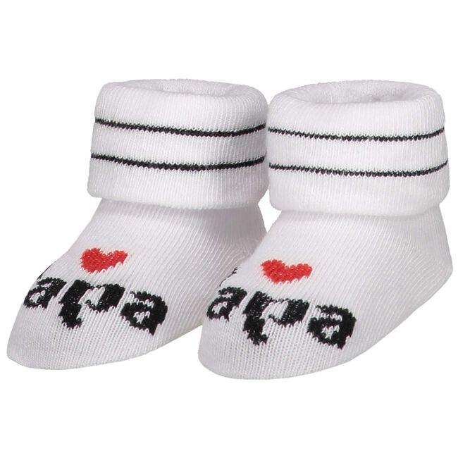 Prenatal baby unisex sokjes I love papa - White