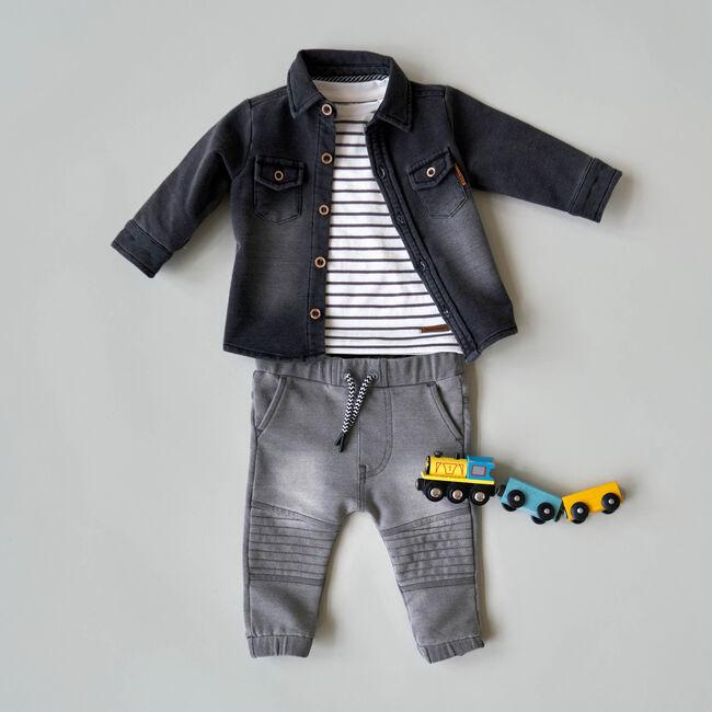Blouse, shirt & broek jogdenim -