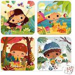 Janod puzzel 4 seizoenen - Multi
