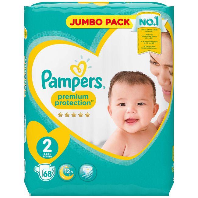 Pampers Premium Protection maat 2 (3-6 kg) - jumbo pack 68 luiers - Onbekend